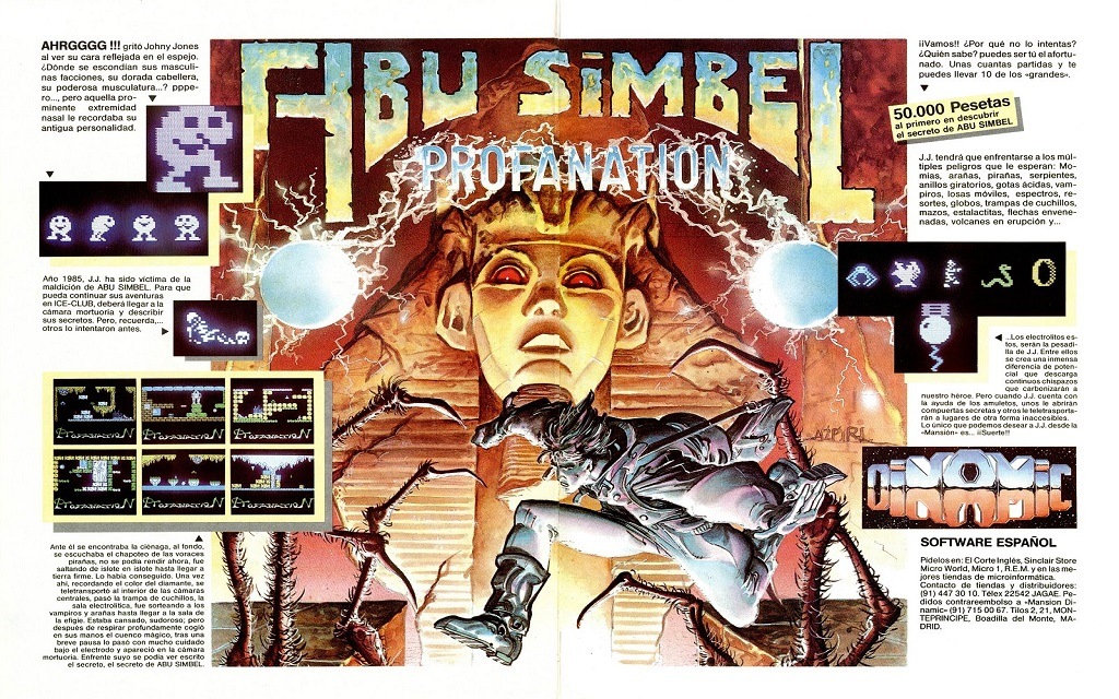 Abu Simbel Profanation – Ordenadores de 8-bits